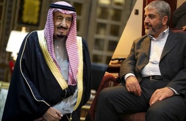 خالد مشعل والملك سلمان