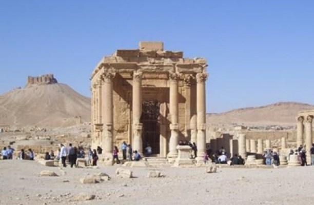 معبد اثري بمدينة تدمر السورية