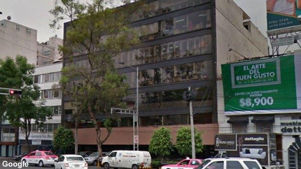 Mexico City street before quake