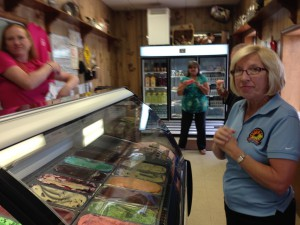 Secretary Hance enjoys the first official scoop of the 2014 Maryland's Best Ice Cream Trail at South Mountain Creamery.
