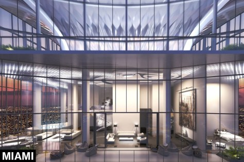 One Thousand Museums's Penthouse in Miami - multiple floors