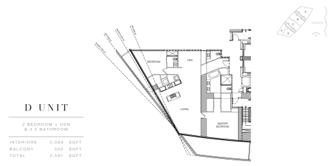 Residence by Armani Casa: Floor Plan D (Level 54)
