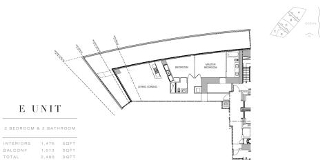 Residences by Armani Casa: Floor Plan E (Level 28)