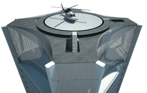 One Thousand Museum: Helipad