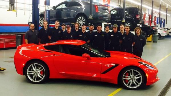 General Motors donates a 2014 Corvette Stingray to Shoreline's Automotive program