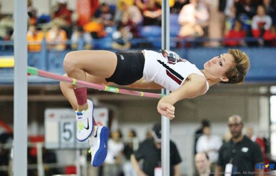 Jeannelle Scheper was a silver medallist at the NCAA Indoor Championships.