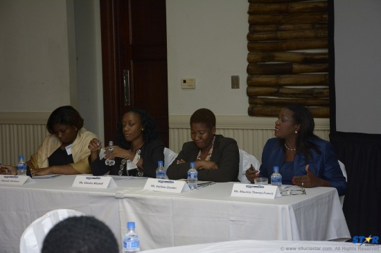 CIBC First Caribbean International Bank played a significant part in the Caribbean Youth Empowerment Program's conference. Country Manager Mauricia Thomas Francis at extreme right
