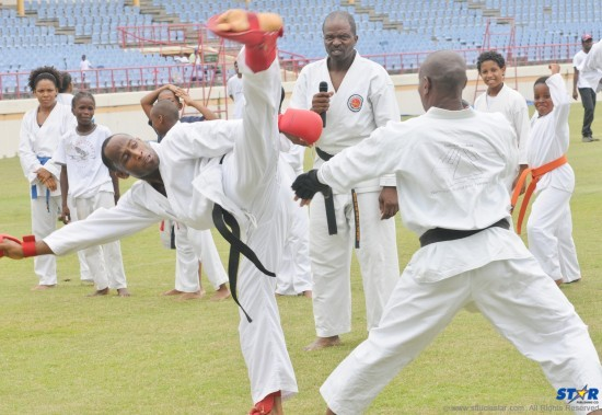 Martial Arts was well represented at the Olympic Day festivities.