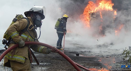 Firefighters tried desperately to bring Gros-Islet fire under control Tuesday afternoon.