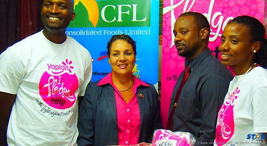 CFL's Martin Dorville, ECFH's Maria Fowell and Omari Frederick and Soriah Best-Joseph of CFL.