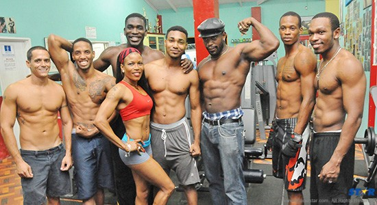 Competitors at Vel's Fitness Centre are pumped up ready to go for tonight's National Bodybuilding Championships.