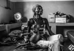 غيدي أومارو تبلغ من العمر 19 عاماً وهي لاجئة من جمهورية أفريقيا الوسطى،