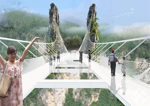 جسر تشانغجياجيه الزجاجى6