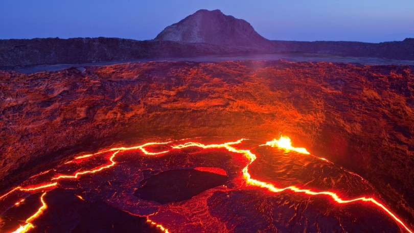 glow, smoulder, lava, eruption, Ertale, volcano, volcanical, Africa, mountain, mountains, fire, nature, Ethiopia,