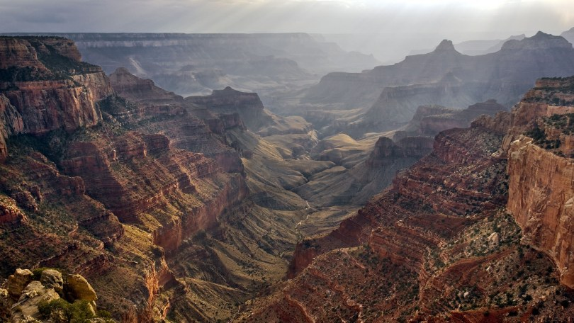Sundown at Cape Royal North Rim Grand Canyon Arizona. Image shot 2007. Exact date unknown.