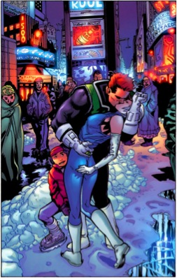 Guy Gardner and Ice from the Green Lantern comic series.