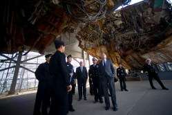 U.S. Navy Secretary Ray Mabus visits the wreckage of the Korean ship Cheonan in April, 2011 [U.S. Navy Photo]