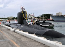 USS Hawaii returns to Joint Base Pearl Harbor-Hickam after completing a six-month deployment to the western Pacific region In November. U.S. Navy Photo