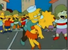 "The Simpsons episode, ""Bart the General."""