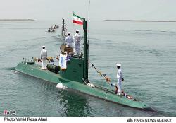 An undated photo of the Iranian Ghadir-class submarine.