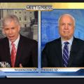 David Gregory and John McCain on Sunday's Meet the Press. NBC