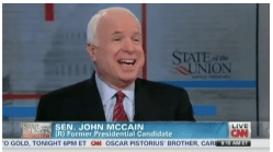 "Sen. John McCain on Sunday's CNN ""State of the Union."" CNN"