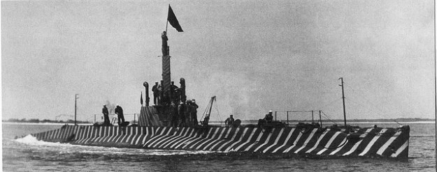 USS K-5 showing its stripes near Pensacola, FL in 1916