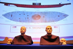 Facial reconstruction of the two unknown sailors from USS Monitor from a March,6 2012 ceremony in Washington D.C. U.S. Navy Photo