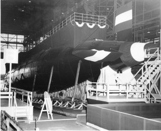 Launch of USS Thresher in 1960. Naval Institute Archives