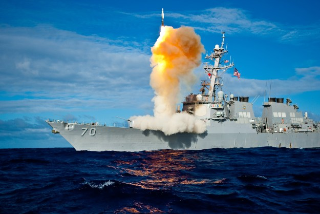 USS Hopper (DDG-70) launches a missile as part of a BMD test in 2009. US Navy Photo