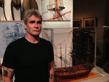 Henry Rollins at the US Naval Academy Museum on April, 30 2013. US Naval Institute Photo