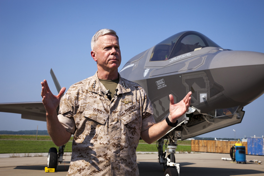 Amos: F-35B IOC in 2015, ACV Design Award Next Year