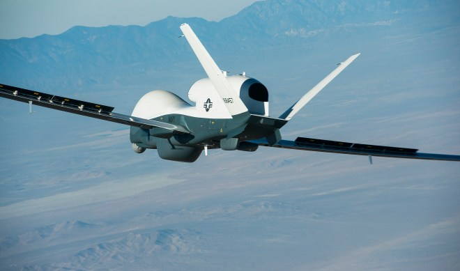 Navy's New Surveillance UAV's First Flight