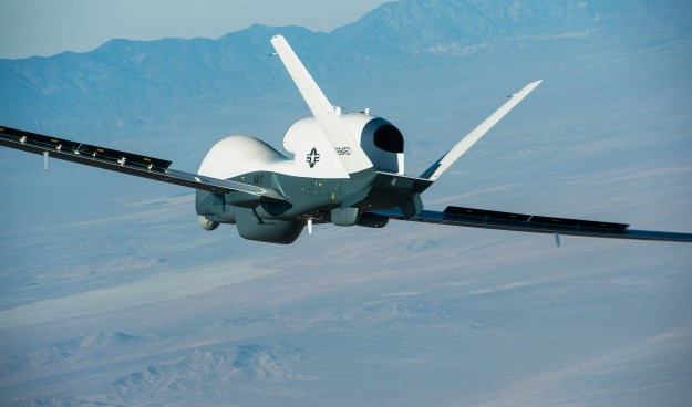 Northrop Grumman-built Triton unmanned aircraft system completed its first flight May 22, 2013, from the company's manufacturing facility in Palmdale, Calif. Northrop Grumman Photo