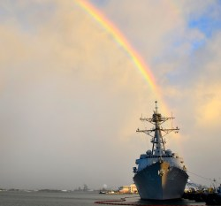 USS Michael Murphy (DDG 112) is moored at its homeport at Joint Base Pearl Harbor-Hickam. US Navy Photo