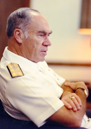 An undated file photo of the 24th Chief of Naval Operations (CNO) Adm. Frank B. Kelso II. US Navy Photo