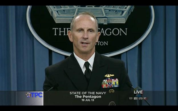 CNO Adm. Jonathan Greenert's State of the Navy Friday Press Briefing