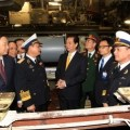 Prime Minister Nguyen Tan Dung inspected Kilo 636 submarine named Hanoi of Vietnam Navy during a visit to Russia in May 2013. Vietnam News Agency Photo