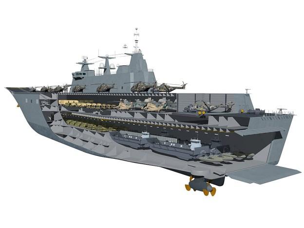 Canberra class LHD. Australia MoD