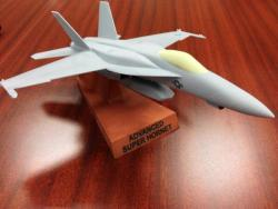 A 3D printed model of Boeing's Advanced Super Hornet. US Naval Institute Photo