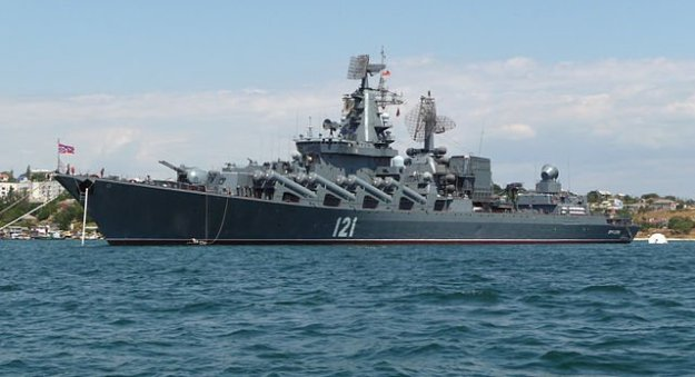 Russian ship Moscow in 2009.