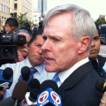 Secretary of the Navy Ray Mabus interviewed by local by reporters near the Washington Navy Yard on Sept. 16, 2013. US Navy Photo