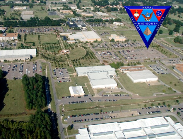 An aerial view of NSA Mid-South, Tenn. in 2008. US Navy Photo