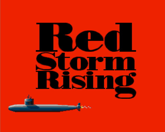 Sreenshot from the 1988 game Red Storm Rising by MicroProse based on the novel by Tom Clancy and Larry Bond.