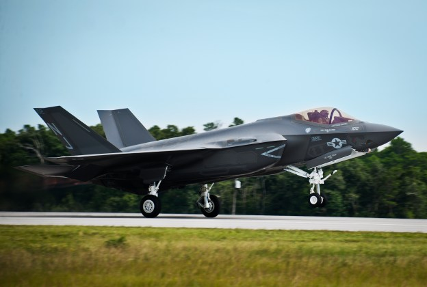 An F-35C Lightning II aircraft in August, 2013. US Navy Photo