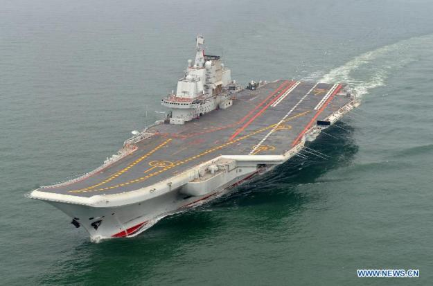 An undated picture of Chinese carrier Liaoning. Xinhua Photo
