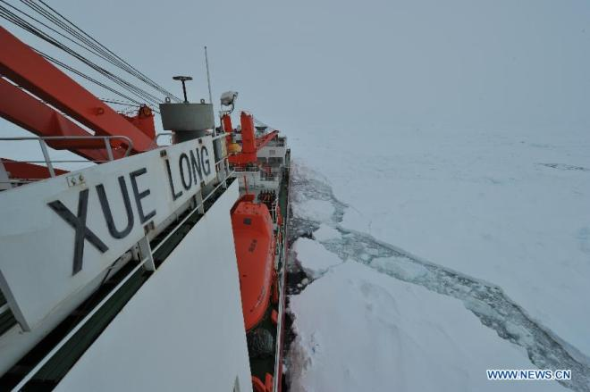 Russian, Chinese Ships Escape Antarctic Ice Pack