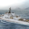 Artist's conception of Bath Iron Work's Offshore Patrol Cutter concept for the US Coast Guard. BIW Photo