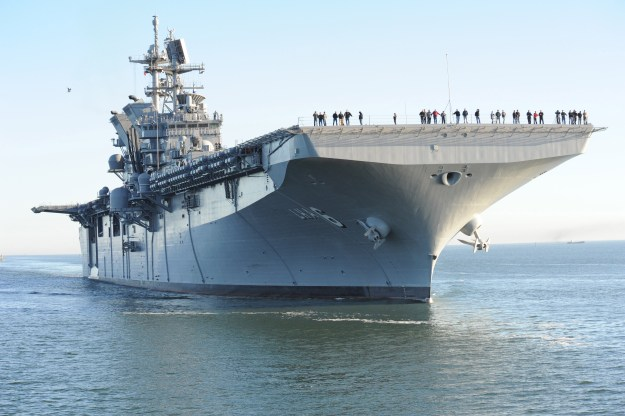 America (LHA-6) returns to Ingalls Shipyard Jan. 31, 2014 from acceptance trials. US Navy Photo
