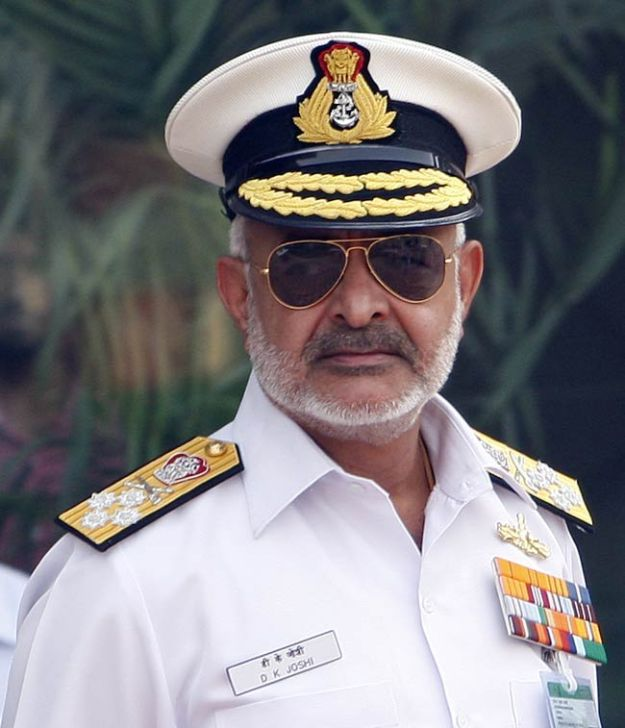 Chief of Naval Staff Adm. DK Joshi. Indian Navy Photo